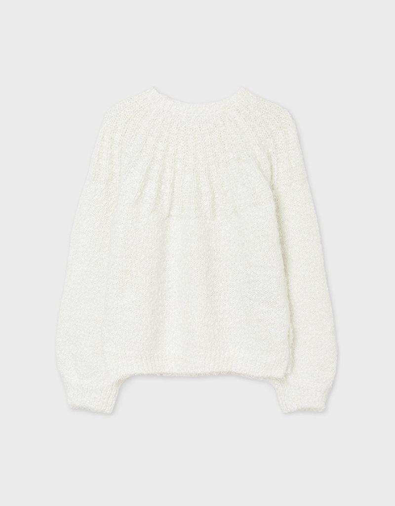 Mayoral Ivory Slub Sweater