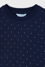 Mayoral Navy Pullover w/Silver Studs