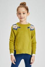 Mayoral Olive Floral Sweater