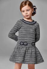 Mayoral Navy Tweed Dress