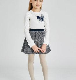 Mayoral Navy Tweed Skirt Set