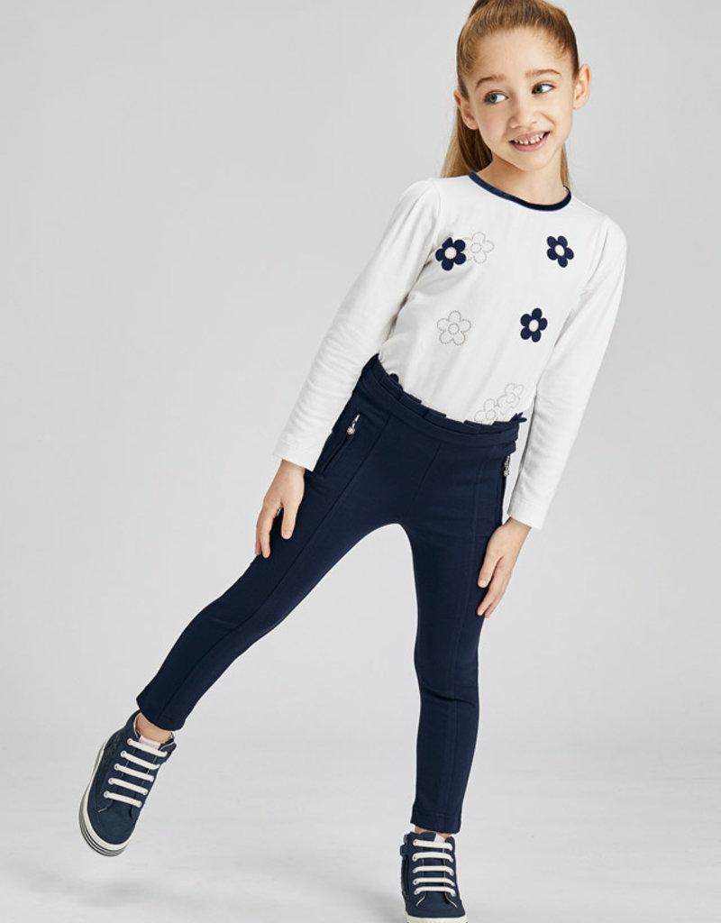 Mayoral Girls Navy Knit Pants