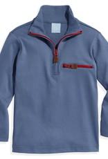 bella bliss Pima 1/2 Zip w/Pocket Steel Blue