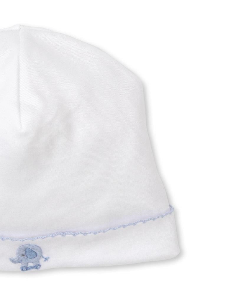 Kissy Kissy Jungle Joy Hat w/Hand Embroidery Blue/White