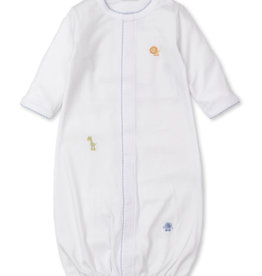 Kissy Kissy Jungle Joy Conv Gown w/Hand Embroidery Blue/White
