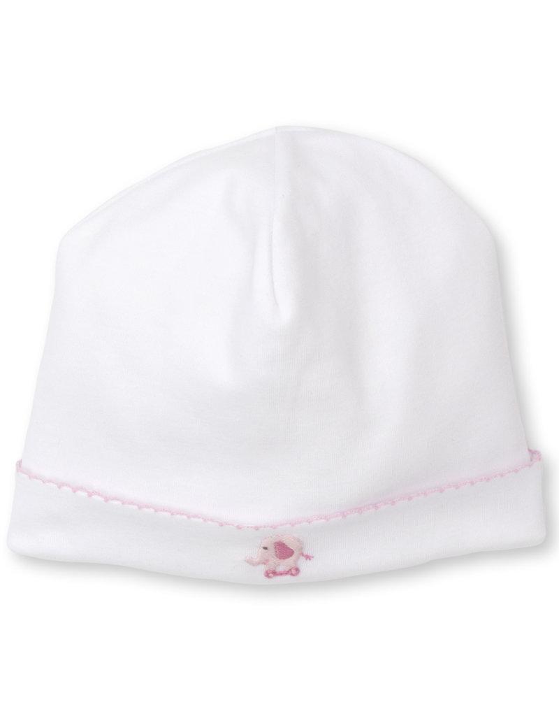 Kissy Kissy Jungle Joy  Hat w/Hand Embroidery Pink/White