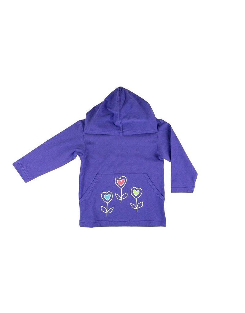 Florence Eiseman Half Zip Hoodie w/Heart Flowers