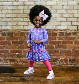 Florence Eiseman Purple Heart/Flower Dress w/Leggings
