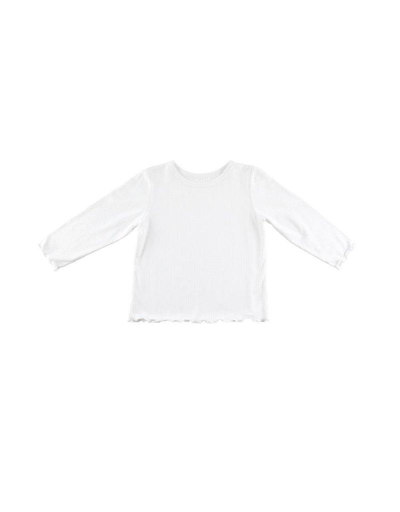 Florence Eiseman Rib L/S White Knit Shirt