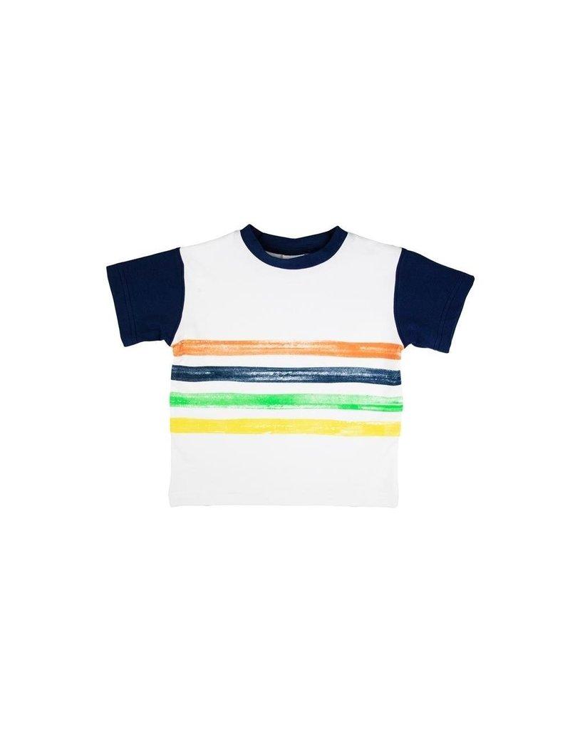 Florence Eiseman S/S Tee w/Print Stripes