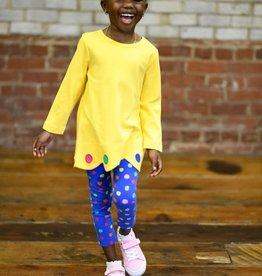 Florence Eiseman Yellow Scalloped Hem Tunic