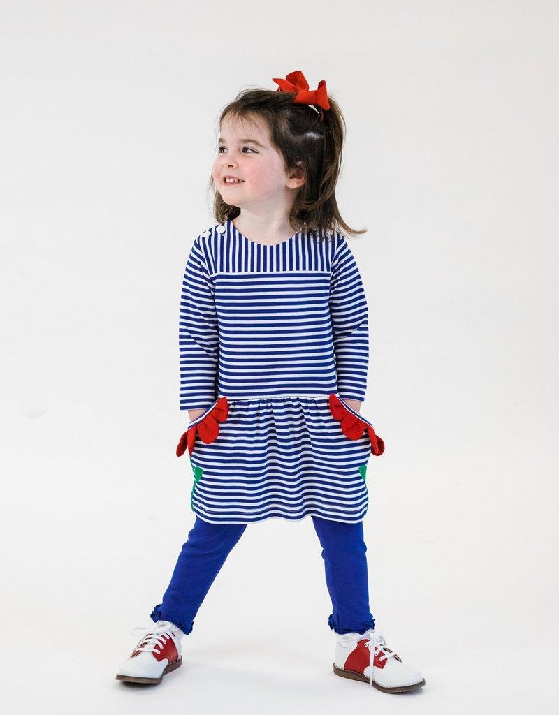 Florence Eiseman Stripe Knit Dress w/Petal Pockets