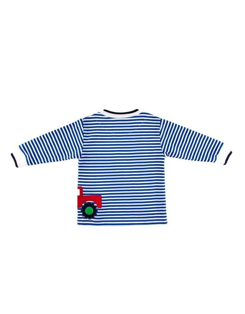 Florence Eiseman Stripe Knit Shirt w/Monster Trucks