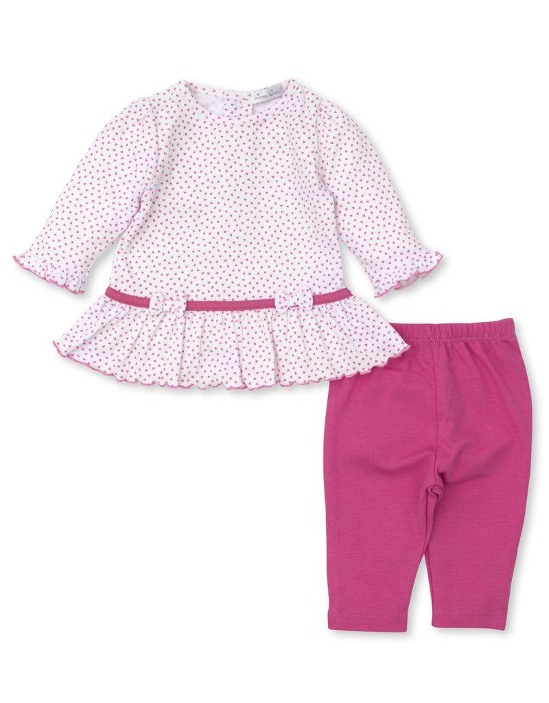 Kissy Kissy Petite Paradise Leggings Set Pink