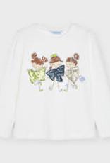 Mayoral L/S Three Friends Print Shirt