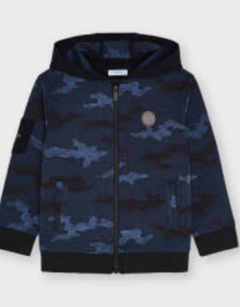 Mayoral Indigo Camo Zip up Sweatshirt w/Pants