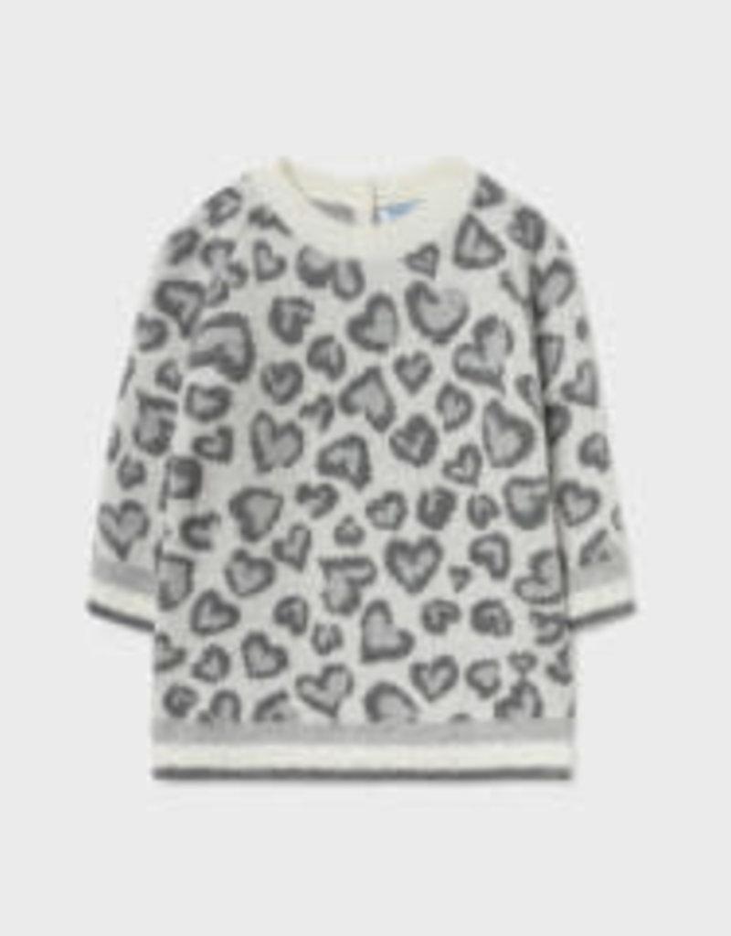 Mayoral Leopard Print Knit Dress