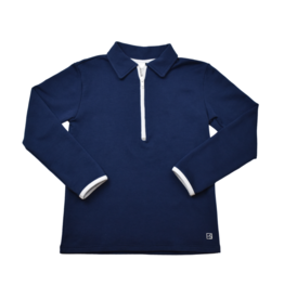 Set Athleisure Henry Half Zip  Navy/White Zipper