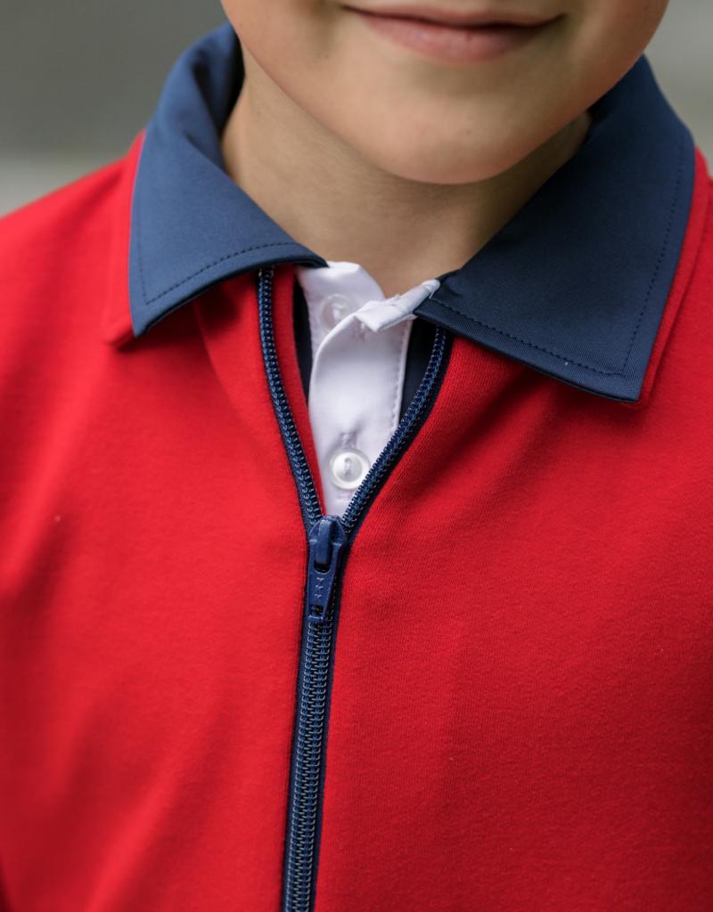 Set Athleisure Henry Half Zip  Red/Royal Zipper