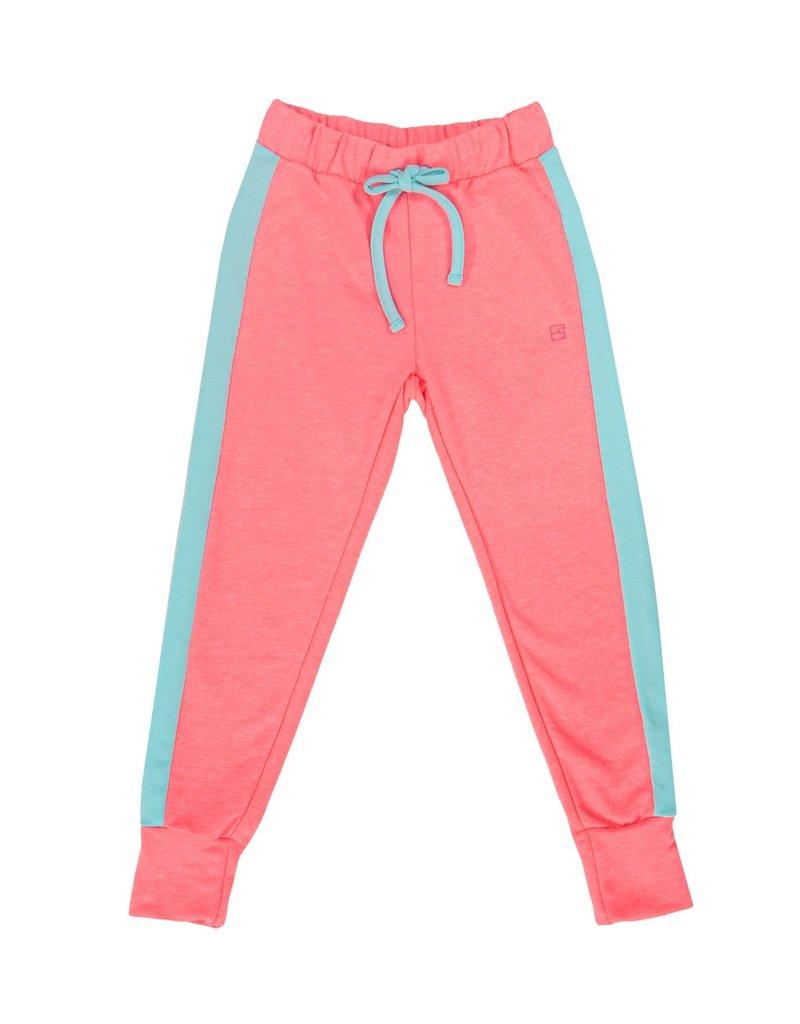 Set Athleisure Jemma Joggers Pink Knit/Turq Sides
