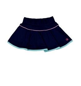 Set Athleisure Quinn Skort Navy/Pink Welting/Turq Short