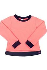 Set Athleisure Selena Sweatshirt Pink Knits/Navy Cuffs