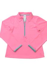 Set Athleisure Heather Half Zip Pink/Turq Zipper