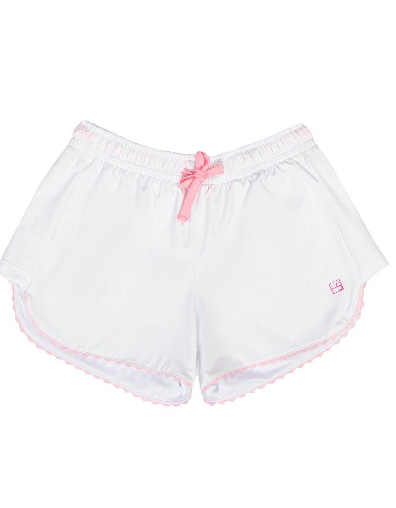 Set Athleisure Annie Shorts White/Pink Tie