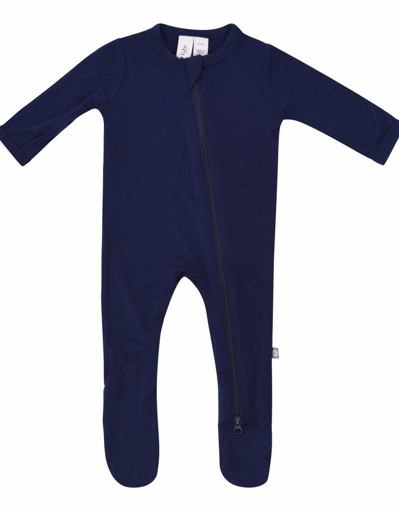 Kyte Baby Zippered Footie in Navy