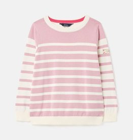 Joules Alvia Mauve Stripe Sweater