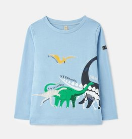 Joules Finley Blue Dino L/S Tee