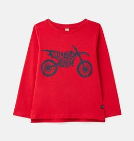 Joules Finlay Red Motorbike L/S Tee
