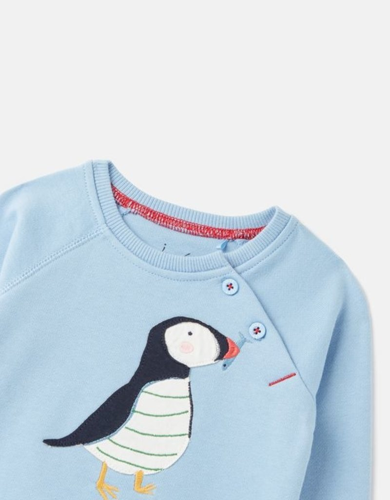 Joules Blue Puffin Sweater