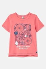 Joules Ben Slim Fit Tee Pink Bike