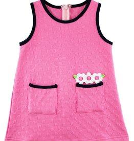 Florence Eiseman Textured Knit Jumper Pink w/Black Trim