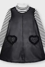Mayoral Black Leatherette Dress