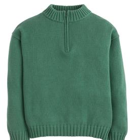 little english Quarter Zip Sweater Hunter Green