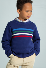 little english Multi Stripe Intarsia Sweater