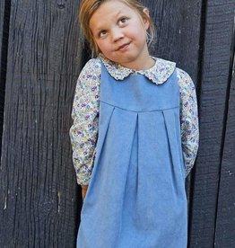 little english Charleston Corduroy Jumper Stormy Blue