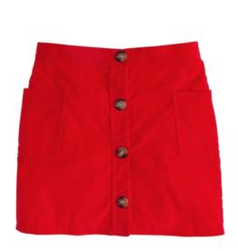 little english Emily Corduroy Pocket Skirt Red