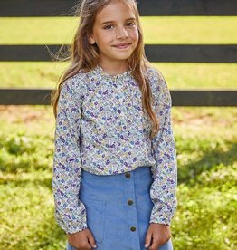 little english Ruffled Popover Hawthorne Floral