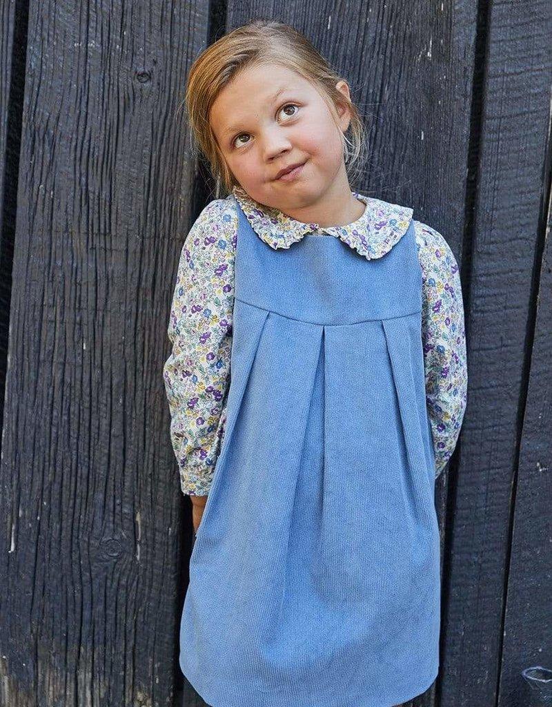 little english Ruffled Peter Pan Blouse Hawthorne Floral