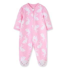 Little Me Bunny Blanket Fleece Footie