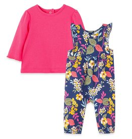 Little Me Leaves Overall Set Blue