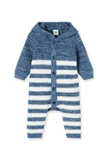 Little Me Blue Marled Coverall