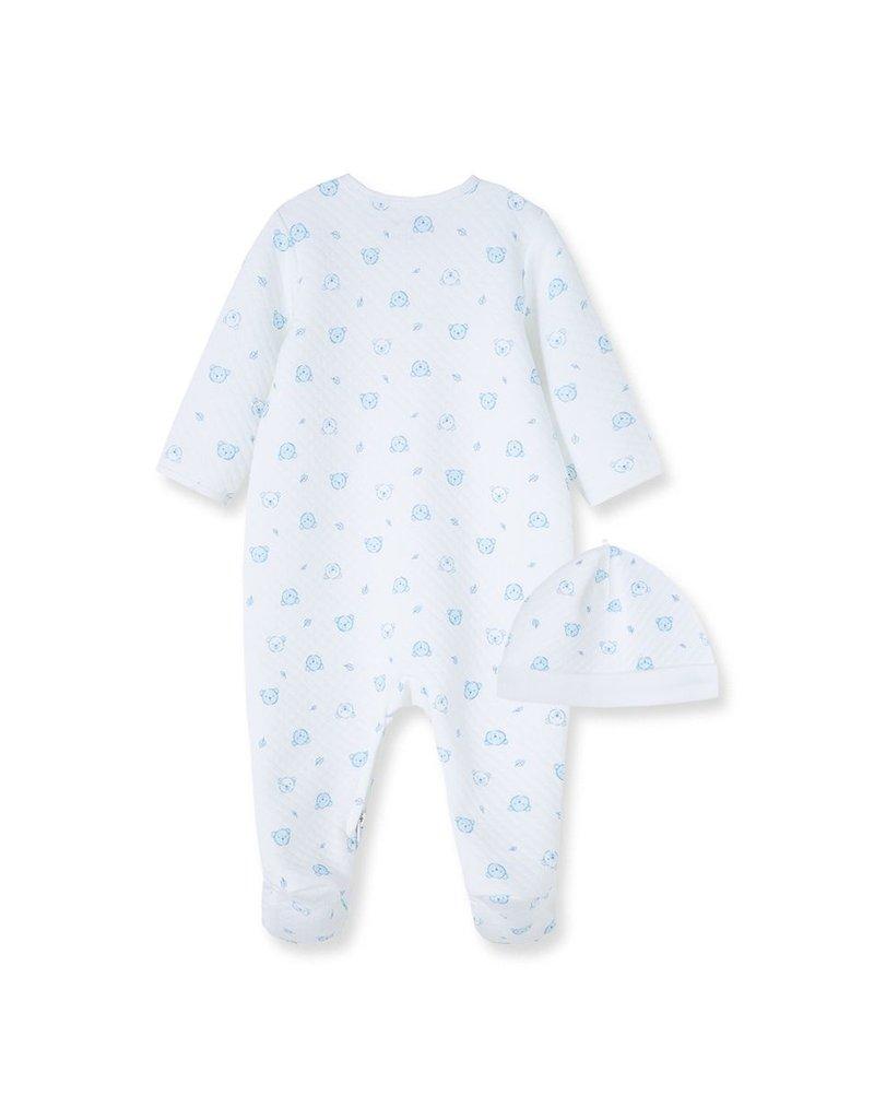 Little Me Blue Bears Quilt Footie w/Hat