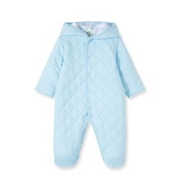 Little Me Blue Quilted Pram