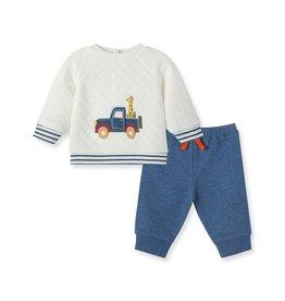 Little Me Jeep Pals Pants Set