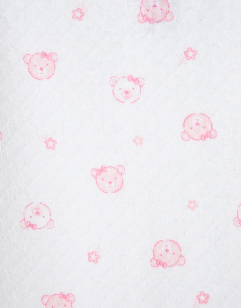 Little Me Wispy Bear Quilt Footie w/Hat Pink