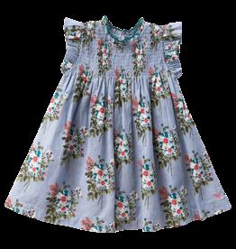 Pink Chicken Stevie Dress Faded Blue Franken Floral